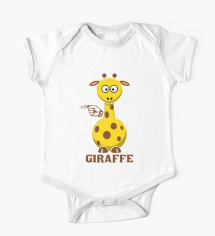 G is for Giraffe  One Piece - Short Sleeve