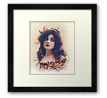 Actress in Flower Garland Framed Print