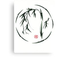 VISIONARY Original sumi-e enso ink brush wash painting Canvas Print
