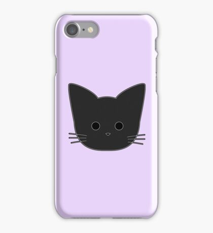 Theo Cat Head - Purple iPhone Case/Skin