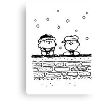 Charlie Brown and Linus Canvas Print