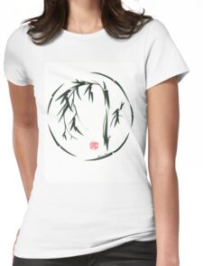 VISIONARY Original sumi-e enso ink brush wash painting Womens Fitted T-Shirt