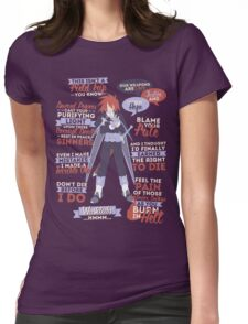 Kratos Aurion Quotes Womens Fitted T-Shirt