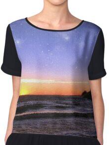Star-Spangled Sunset Chiffon Top