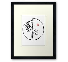 PASSAGE  - Original sumi-e enso ink brush art Framed Print