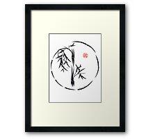 PASSAGE  - Original sumi-e enso ink brush art Framed Print