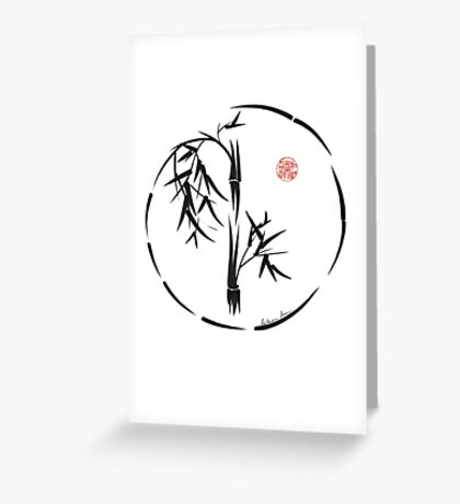 PASSAGE  - Original sumi-e enso ink brush art Greeting Card