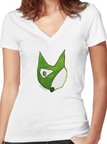 Paradox Fox Women's Fitted V-Neck T-Shirt