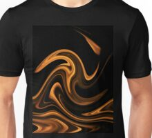 Fire - Flame Background of Golden Yellow Unisex T-Shirt