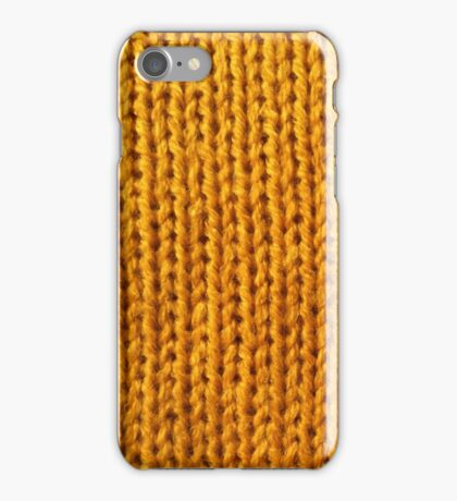 Yellow Knit iPhone Case/Skin