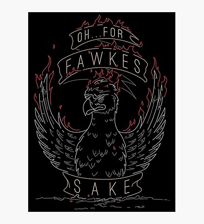 For Fawkes Sake Photographic Print