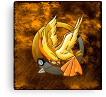 Hunger Phoenix Pokeball Canvas Print