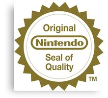 Nintendo Original Seal of Quality Canvas Print