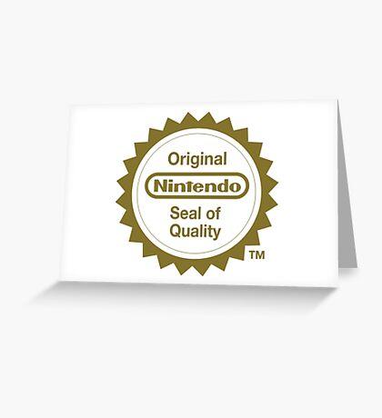 Nintendo Original Seal of Quality Greeting Card