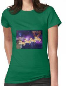 Corgi Conga Womens Fitted T-Shirt