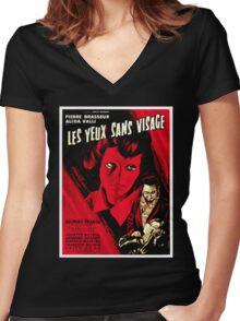 Les Yeux Sans Visage Women's Fitted V-Neck T-Shirt