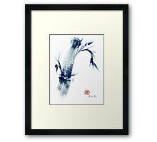 MEDITATE - Zen wash painting Framed Print