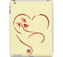 FOREVER YOURS,  Sumi-e Enso Ink Brush Pen Heart Painting iPad Case/Skin