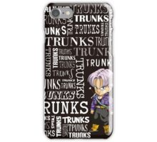Trunks Typographic iPhone Case/Skin