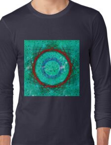 Green flowers, abstract Long Sleeve T-Shirt