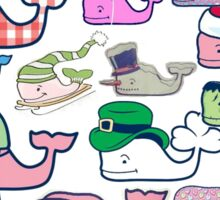 Vineyard Vines Whales Sticker
