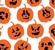 Halloween Pumpkin Pattern  by HolidaySwagg