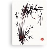 Adventurous Spirit - Sumi Sumie Ink Brush Painting Canvas Print
