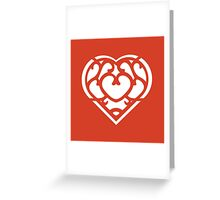Zelda Skyward Sword Heart (white) Greeting Card