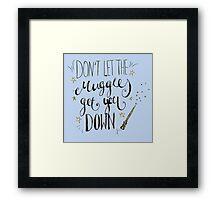 Don't let the muggles get you down! Framed Print