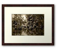 Bayou Bridge Reflection Framed Print