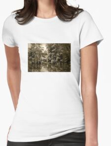 Bayou Bridge Reflection Womens Fitted T-Shirt