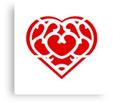 Zelda Skyward Sword Heart (red) Canvas Print