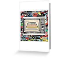 Atari cassette Retro TV Greeting Card