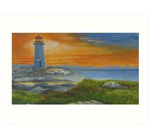 Peggy's Cove Sunrise Art Print