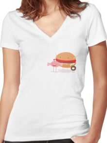 The Sugar Monsters Women's Fitted V-Neck T-Shirt