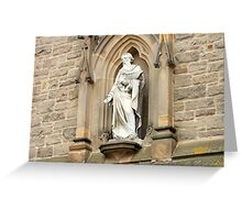 Statue of St. Nicholas on Church in Durham Greeting Card