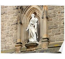 Statue of St. Nicholas on Church in Durham Poster