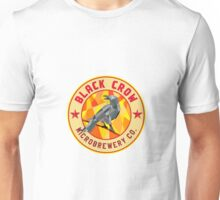 Crow Perched Microbrewery Circle Low Polygon Unisex T-Shirt