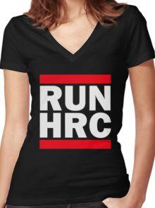 RUN HRC Women's Fitted V-Neck T-Shirt