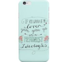 If you want to be my lover... iPhone Case/Skin