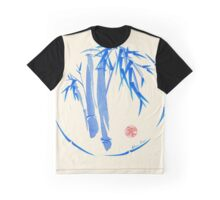 """enso blu""  Original enso sumi-e ink brush pen wash painting Graphic T-Shirt"