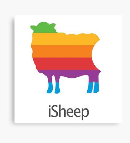 iSheep Apple logo spoof Canvas Print