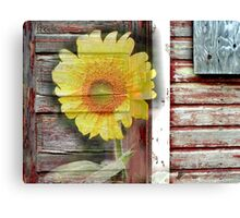Sunflower in the Door Canvas Print