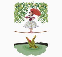 Cute halloween The crocodile girl Deadly circus One Piece - Short Sleeve