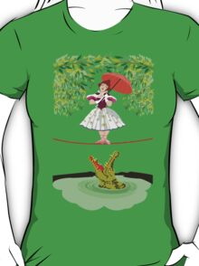 Cute halloween The crocodile girl Deadly circus T-Shirt