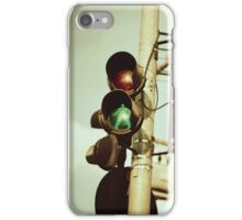 Green signal iPhone Case/Skin