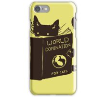 World Domination For Cats iPhone Case/Skin