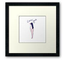 penguin with legs Framed Print