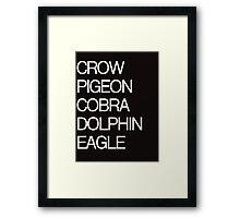 yoga words Framed Print