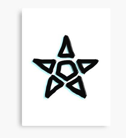 Light Blue Star Canvas Print